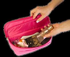 Двойной дорожный органайзер для белья ORGANIZE C003 розовый