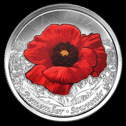 25 центів 2015 Канада Червоний мак, UNC