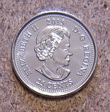 25 центів 2015 Канада Червоний мак, UNC, фото 2