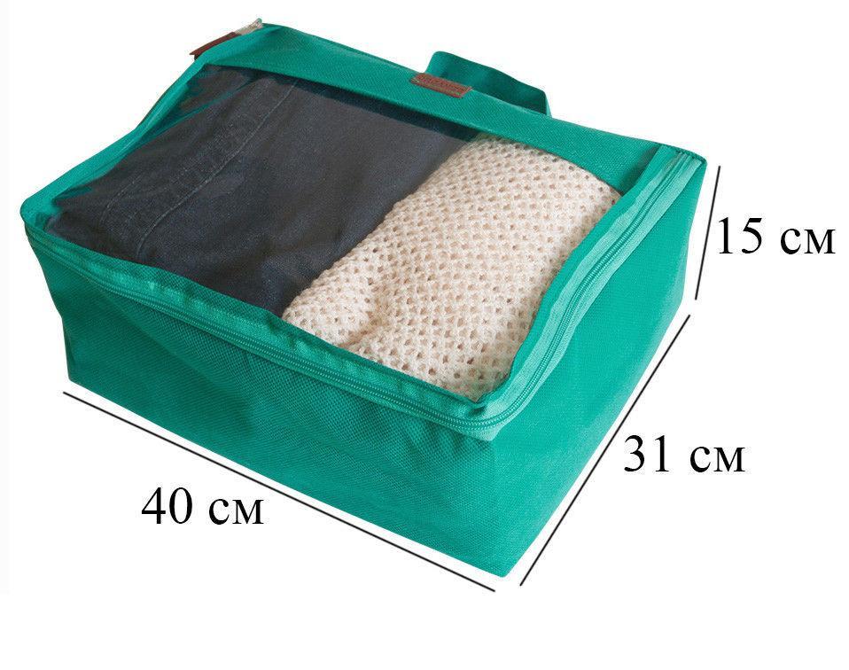 bf5afbf51728 Набор дорожных сумок в чемодан 5 шт ORGANIZE P005 лазурь - Цена ...