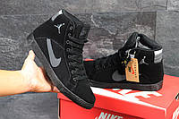 Зимние кроссовки Nike Jordan ,чёрные