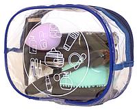 Прозрачная косметичка для бассейна/сауны ORGANIZE K007 синий