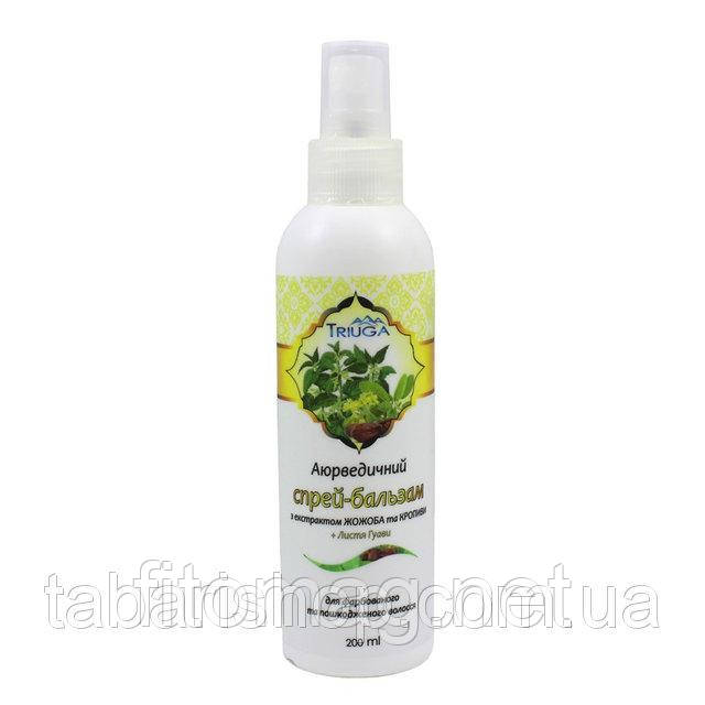 Спрей-бальзам Триюга для волосся з екстрактом брінгарадж та шавлії для сухого та ламкого волосся, 200 мл