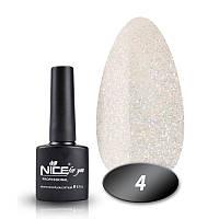 Гель-лак Nice for you Professional 8,5 ml №004 - полупрозрачный с микроблеском