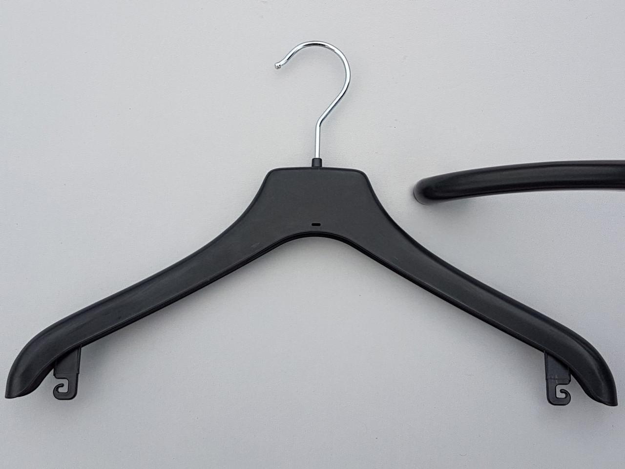 Длина 38 см. Плечики вешалки пластмассовые Coronet NF-38 черные