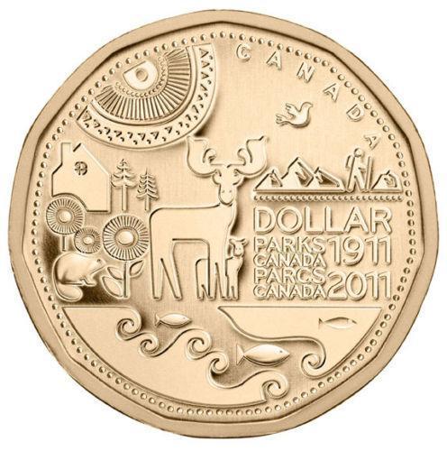 1 доллар 2011 Канада - 100 лет паркам Канады. aUNC