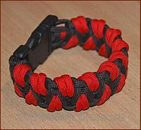 Паракордовый браслет выживания на руку плетеный Красный Дракон / паракордовый ремешок