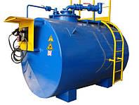 Мобильный топливный модуль, цилиндрический резервуар на 10 000 литров (Мини АЗС)