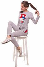 Детский спортивный костюм на девочку подростка, серый, р.134,140*, фото 3