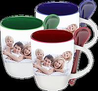 Печать на чашках с ложкой фото