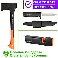 Автомобильный набор FISKARS - топор х10S, точило 120740, нож 125860