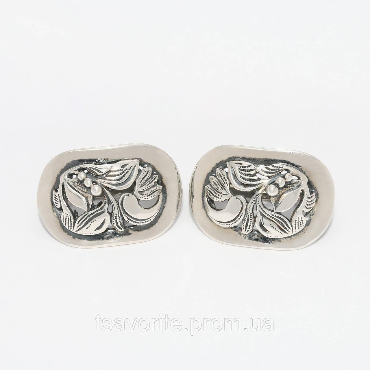 Серебряные серьги 1100174