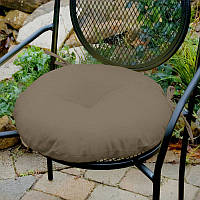 Декоративная подушка на стул модель 3 круглая на завязках, Порох