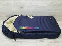 Зимний конверт в коляску в санки чехол на овчине