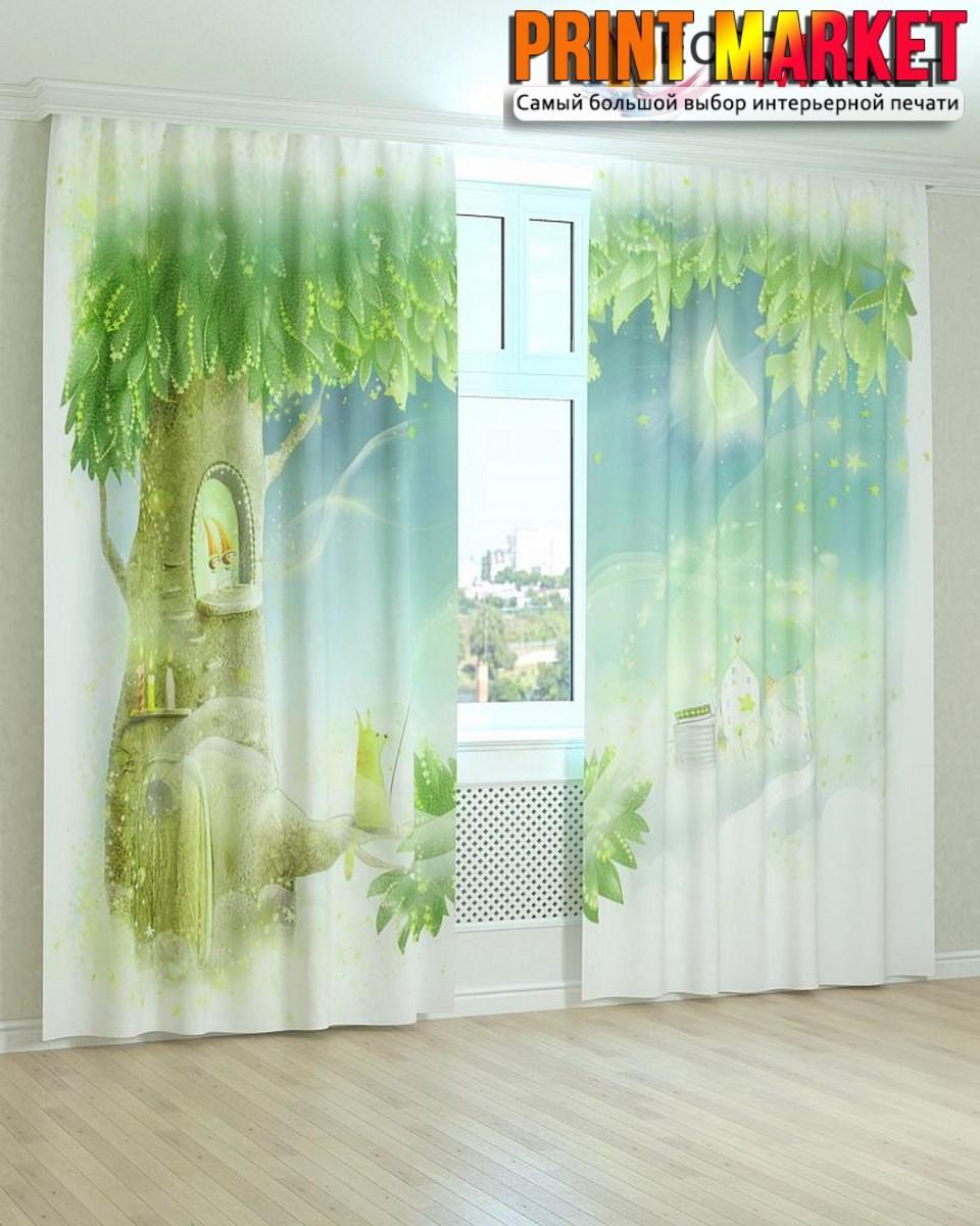 Фотошторы сказочное дерево 3д