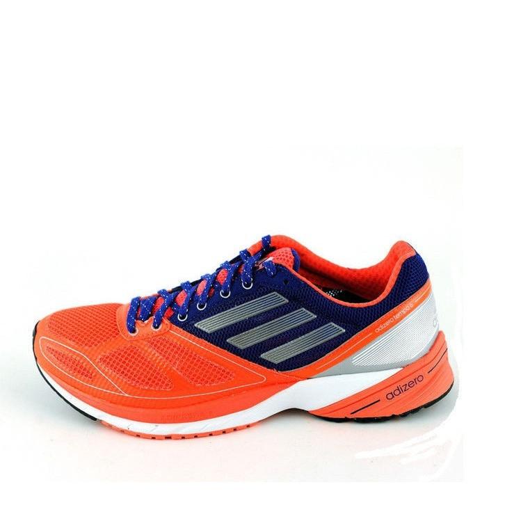 Кроссовки мужские adidas AdiZero Tempo 6 Q21502 (оранжевые с синим, беговые, летние, текстиль, бренд адидас)