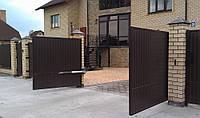 Распашные ворота изготовление и установка