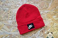 Зимняя шапка Nike Beanie / Найк красная