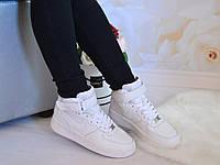 Женски белые высокие кроссовки форсы, 37 38 40 41р.