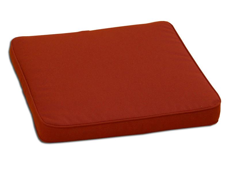 Декоративная подушка на сиденье модель 2 квадратная Винный