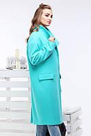 Женское демисезонное шерстяное пальто-кокон