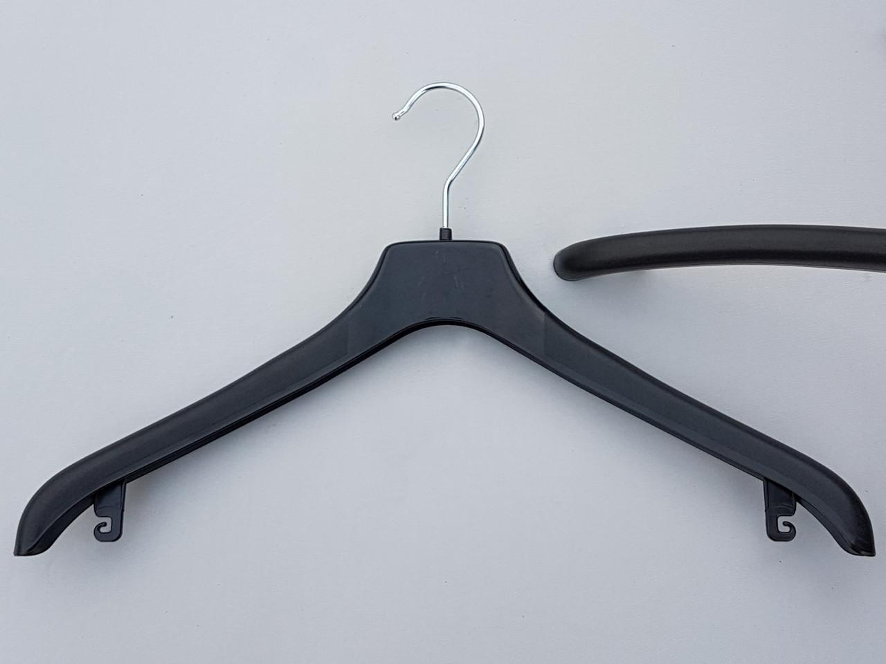 Длина 44 см. Плечики вешалки пластмассовые Coronet NF-44 шероховатые черные