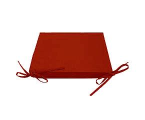 Декоративная подушка на сиденье с завязками модель 2 квадратная Винный