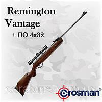 Crosman Remington Vantage , пружинно-поршневая пневматическая винтовка с оптикой 4х32