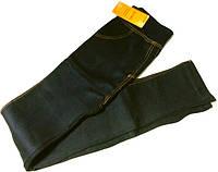 Лосины джинс на плотном меху бамбук черные