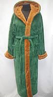 Мужской махровый халат L - XXXl зеленый