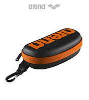 Прочный чехол-футляр для очков Arena Goggle Case (Black/Orange), фото 1