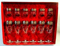 Набор бокалов для шампанского+стопка  Греческий узор 1687/837  12 шт