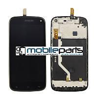 Оригинальный Дисплей (Модуль)+ Сенсор для Fly IQ4410 Quad Phgenix | Gionee E3 (C рамкой белой) (Черный)