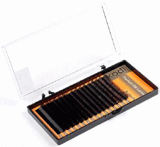 Ресницы для наращивания Kodi Professional Butterfly, В-0.05 (16 рядов: 8/9 мм.) черные