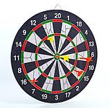Мішень для гри в дартс з флока Flocked 17in Baili (d-43см, в комплекті 6 дротиків 6g), фото 2