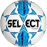 Мяч футбольный Select Fusion, бело-голубой, р 3, 4, 5, не ламинированный, фото 1