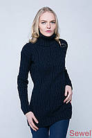 Женский зимний вязаный свитер
