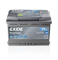 Аккумулятор автомобильный Exide Premium 77 А/ч 760A EA770 (278x175x190)