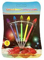 """Свечи для торта """"Разноцветные огоньки"""" 5 шт."""