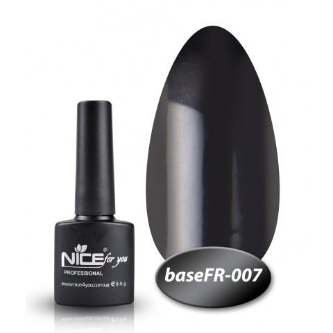 База Nice for you French 8,5 ml - каучук - FR 007 - черный