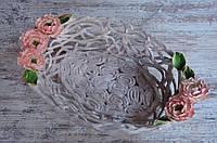 Эксклюзив! Блюдо Древовидный пион плетеное