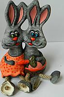 Керамічна скарбничка кролики Керамическая копилка кролики