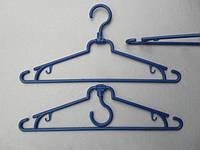 Плечики вешалки пластмассовые складные синие, 39 см, 10 штук в упаковке