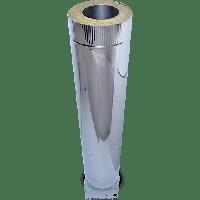 Труба из нержавеющей стали с теплоизоляцией  в нержавеющем кожухе