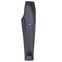 Спортивные штаны мужские на флисе, серые