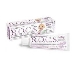 Зубна паста R. O. C. S. baby аромат липи Вік від 0 до 3 років