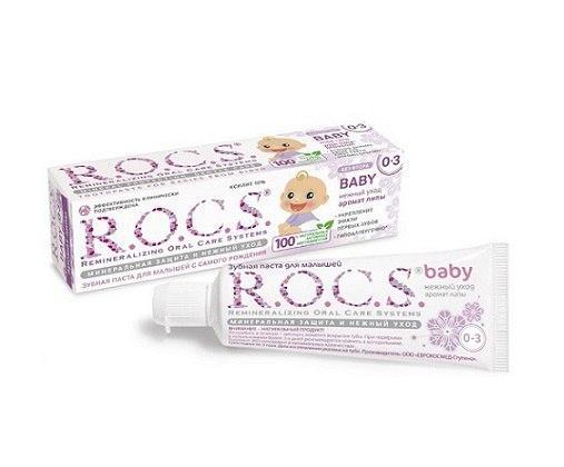 Зубная паста R.O.C.S. baby аромат липы Возраст от 0 до 3 лет
