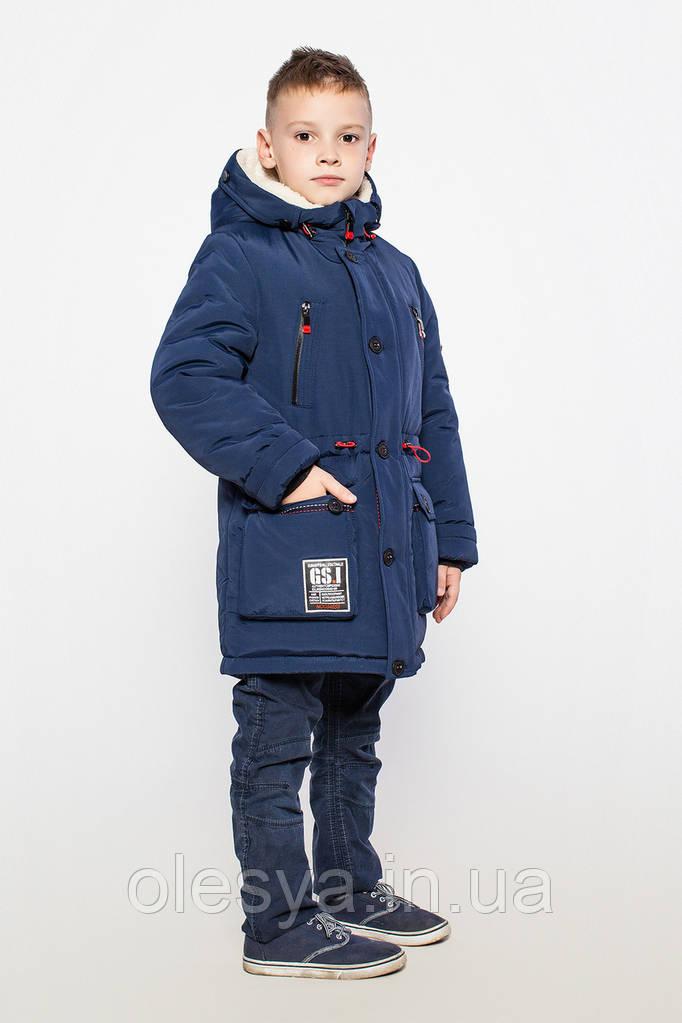 Зимняя куртка парка на мальчика Чарли размер 158