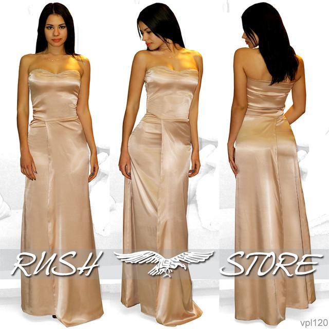 3a161dcd6908d8c Купить Атласное вечернее платье без бретелей в Николаеве от компании ...