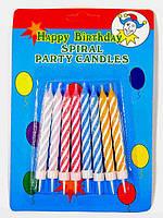 """Свечи для торта  """"Спираль"""" 8 шт."""